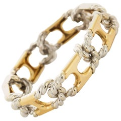 1980s Van Cleef & Arpels  Yellow and White Gold Link Bracelet
