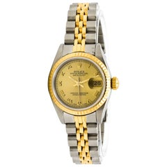 Rolex Yellow Gold Stainless Steel Datejust Auto Wristwatch