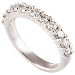 Kian Design 18 Carat White Gold Round Brilliant Cut Diamond Bridal Ring
