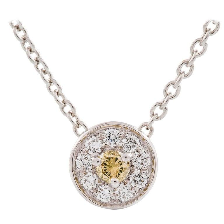 Kian Design 18 Carat White Gold, Yellow and White Diamond Necklace