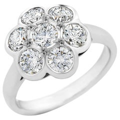 18 Carat White Gold 'Daisy' Cluster Ring TDW 2.24 Carat