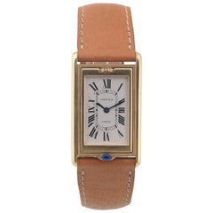 Cartier yellow Gold Reversible Tank Basculante manual Wristwatch