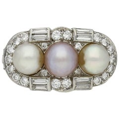 Natural Pearl Cluster Ring, circa 1935