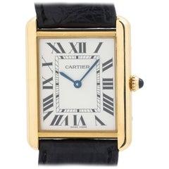 Cartier yellow gold stainless steel Tank Solo quartz wristwatch, circa 2010