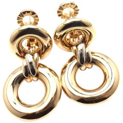 Cartier Trinity Drop Tri-Color Gold Earrings