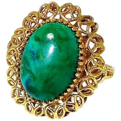 Malachite and Gold Ring