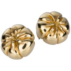 Judith Leiber 18 Karat Yellow Gold Heirloom Tomato Earrings