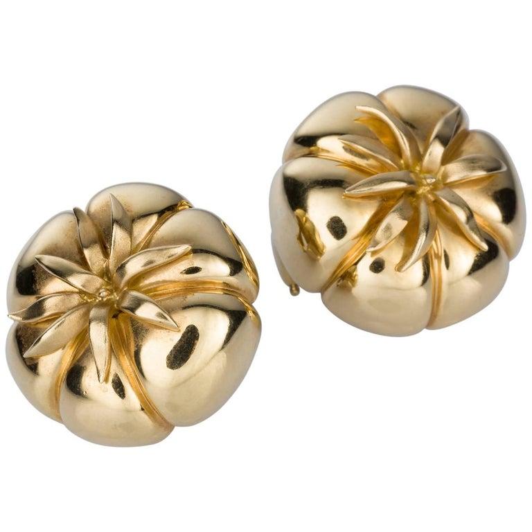 Judith Leiber 18 Karat Yellow Gold Heirloom Tomato Earrings