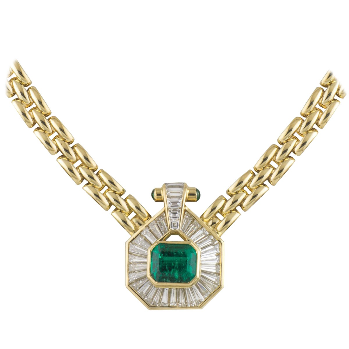 Certified Emerald and Diamond Necklace