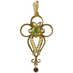 Antique Victorian 9 Carat Gold Suffragette Pendant, circa 1900
