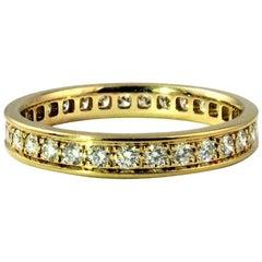 Cartier Classic Diamond Yellow Gold Eternity Ring