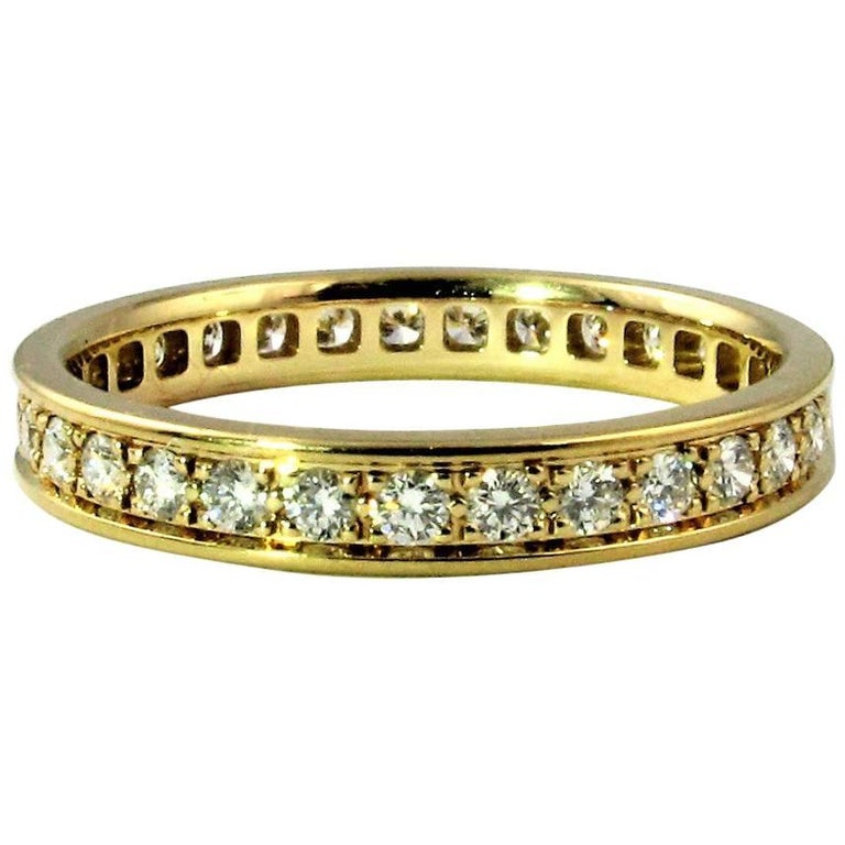 Cartier Classic Diamond US Size 7 1 2 Yellow Gold Eternity Wedding