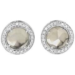 Beryl and Diamond Earrings