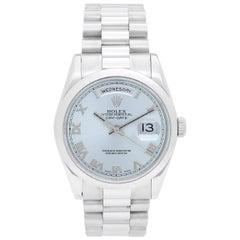 Rolex Platinum President Day-Date Automatic Wristwatch Ref 118206