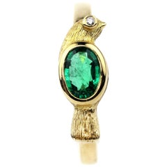 Julius Cohen Emerald Bird Ring
