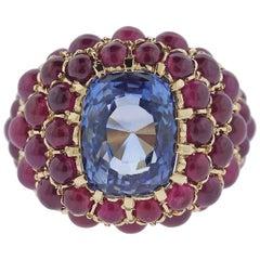 Verdura Sapphire Ruby Gold Ring