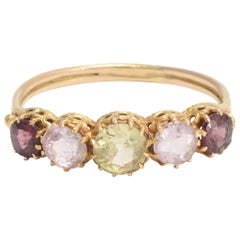 Victorian Multicolored Gemstone Ring