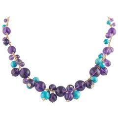 Cartier Multi-Gemstone Les Delices Necklace