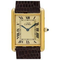 Cartier Vermeil Tank Louis Quartz wristwatch, circa 1990s