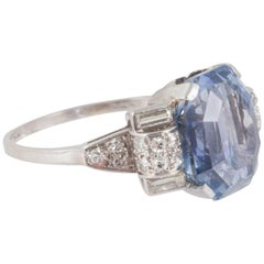 Large Sapphire and Diamond Dress Ring