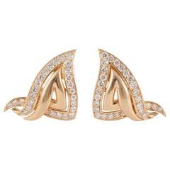 French Diamond Set Earclips