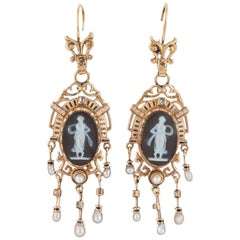 19th Century Cameo Earrings