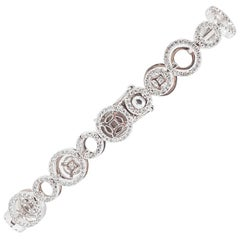 18 Carat White Gold Diamond Bracelet