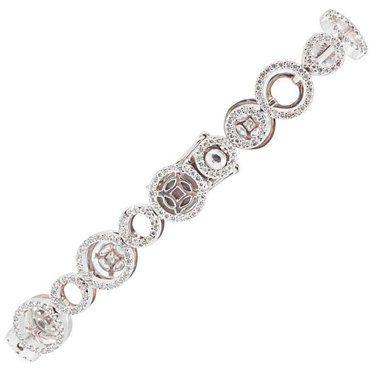 18 Carat White Gold Diamond Bracelet