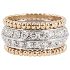 Retro Diamond Band Ring