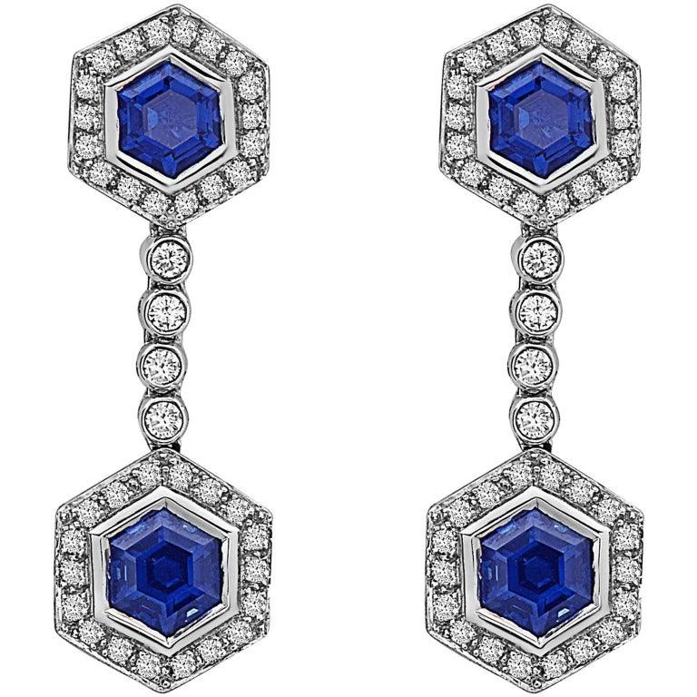 Emilio Jewelry Sapphire Diamond Earrings