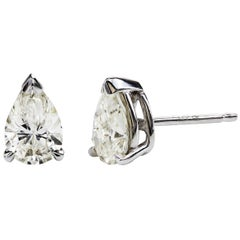 Pear Shape Diamond Stud Earrings