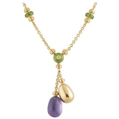 Bulgari Yellow Gold Multi-Gemstone Mediterranean Necklace