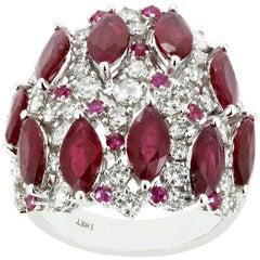 Ruby Diamond Band Ring