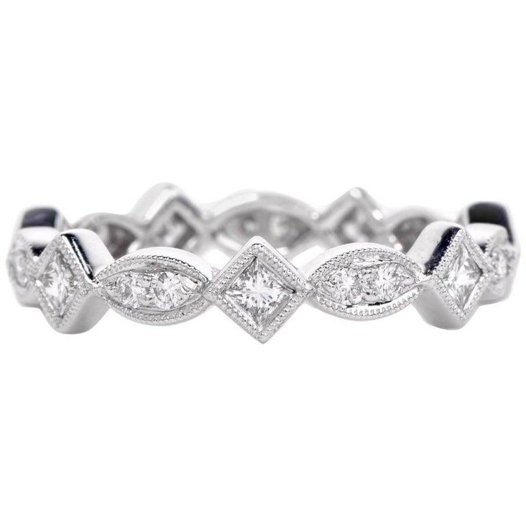 21st Century Platinum Diamond Eternity Band Ring
