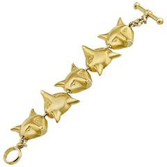 Kieselstein-Cord Fox 1986 Gold Bracelet
