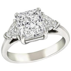 2.16 Carat GIA Diamond Platinum Engagement Ring