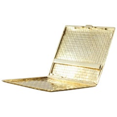 Shreve & Co. Gold Weave Cigarette Case