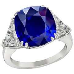 Amazing 7.17 Carat Sapphire Diamond Engagement Ring