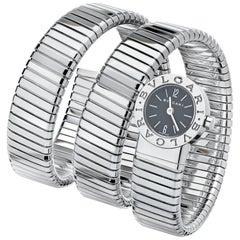 Bulgari Stainless Steel Wrap Around Snake Wristwatch