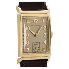 Hamilton Yellow Gold Gilbert Manual Wristwatch, circa 1948
