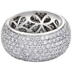Fashionable Micro Pave Set Diamond Dome Ring