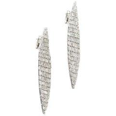 SAM.SAAB White Gold and Diamond Baguette Earrings