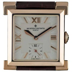 Vacheron Constantin Rose Gold Carree Historique Manual Wristwatch