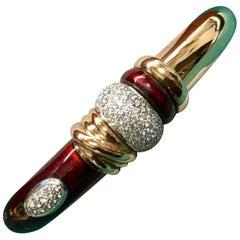La Nouvelle Bague Enamel and Diamond Bracelet