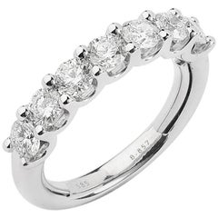 Seven-Stone Diamond Adjustable Wedding Band