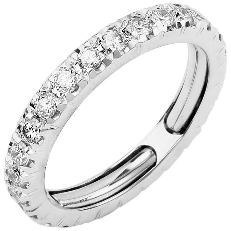 Round Brilliant Diamond Adjustable Wedding Band