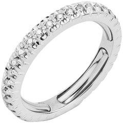 Round Brilliant Diamond Adjustable Eternity Band