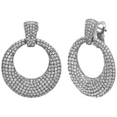 Emilio Jewelry Door Knocker Diamond Earrings