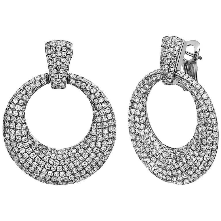 Emilio Jewelry Door Knocker Diamond Earrings