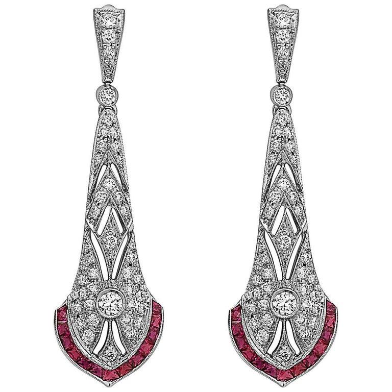 Emilio Jewelry Diamond Drop Earrings